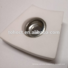 Curved ceramic tile Alumina ceramic Welding ceramic brick plate with caamic washer cap and metal ferrule