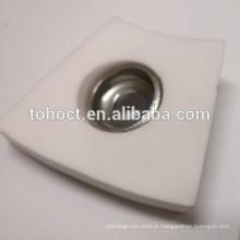 Telha cerâmica curvada Alumina cerâmico Placa de tijolo cerâmico de solda com tampa arruela caamic e ponteira de metal