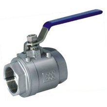 2PC Stainless Steel Ball Valve, Full Port, Thread Ends