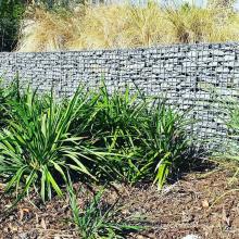 100/30/100cm galvanized galfan powder coating steel wire mesh customized landscaping gabion wall