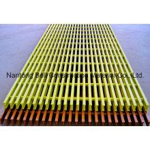Rejillas pultruidas de FRP / GRP, T-5020, 50 * 25.4 * 50.8 * 25.4mm