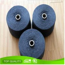 Nm34 Ne20 Schwarz Socken Baumwolle Polyester Blended Garn Recycling