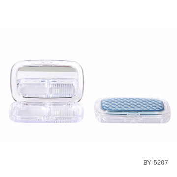 Rectangle Silver Compact Powder Case