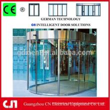 Profissional automático temperado Frameless porta de vidro deslizante
