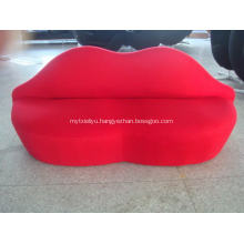 red bocca Fabric Sofa