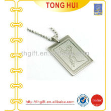 Tiger dog tag necklace factory imitation jewelry