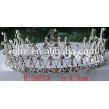 fashion crown gold tiara rhinestone crown embellishments pageant crown and tiara green