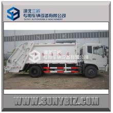 Hinterer beladener Müllkompressionswagen 10m3
