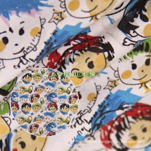 Baby Scrawl Patterns 250GSM Woven Canvas Fabric
