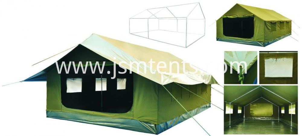Disaster relief canvas military tent
