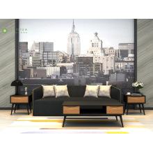 Black and Light Walnut Living Room Set