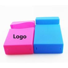 Caixa para cigarros de borracha de silicone caixa reutilizável de silicone