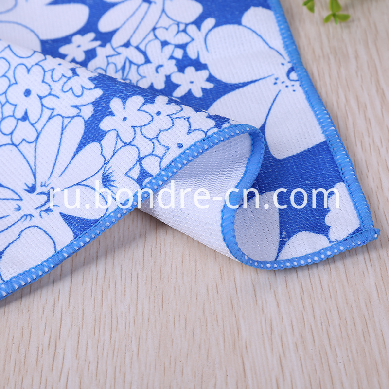 Printed Washcloth With Net