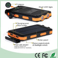 Waterproof Dual USB Mobile Phone Solar Power Bank Charger with Dual LED Light (SC-6688)