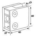 Edelstahl-Glashalterung für Handlaufsystem (CR-052)
