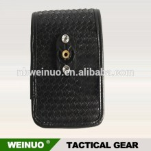 Factory price black leather tool pouch