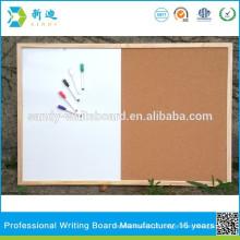 Metade, whiteboard, meio, cortiça, placa, com, tábua