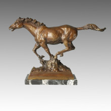 Statue des animaux Cheval Running Bronze Sculpture Tpal-087