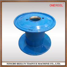 Double wall flanges reel for metallic wires and cables