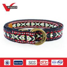 Fashion Unique Pattern Ladies Cotton Web Belts