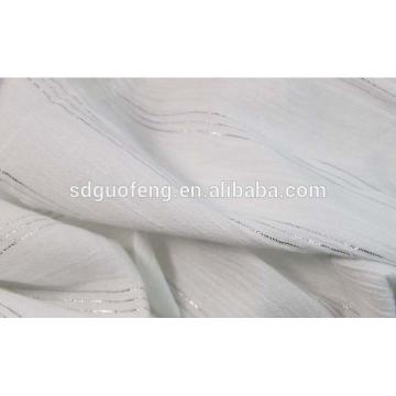 o fabricante fornece a tela tingida fio de algodão inlaied alta torção prata para camisas