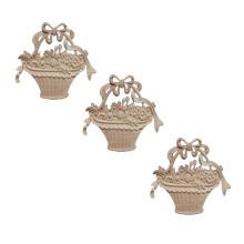Europe type furniture decorates solid wood flower basket modelling sculpture wood