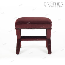 High quality modern style fabric tufted footstool ottoman