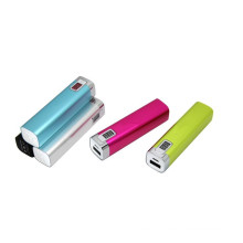 Digital Display Aluminum Rechargeable Lipstick 2600mAh Mobile Charger