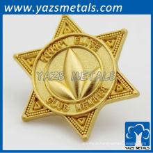 Custom 24k gold chapeamento bagdes / lapela pinos fábrica direta