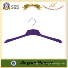 Heißer Verkaufs-Anzeigen-purpurroter Plastikmantel-Aufhänger