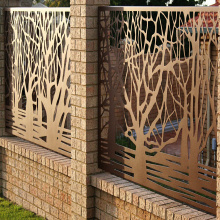 Laser Cut Corten Steel Fence