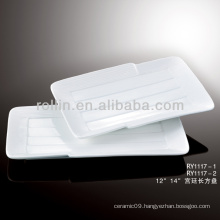 modern royal white porcelain plates rectangular