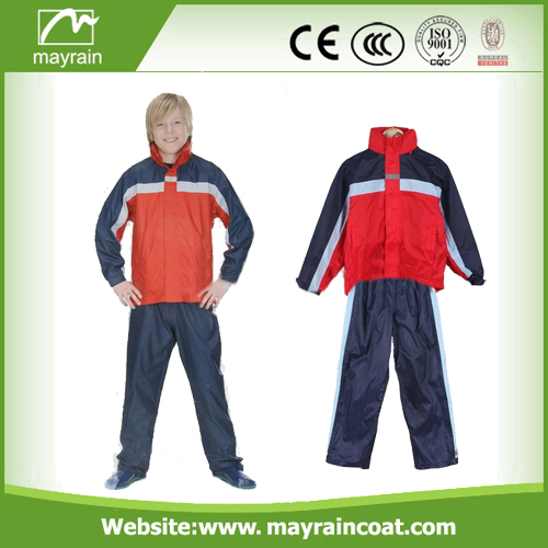 Children Black Blue Red Rainsuits