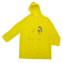 Yellow Children's Pvc Raincoat