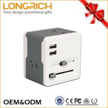 Universal World travel adapter Dual usb carregador com adaptador LED 2016 LongRich