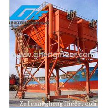 Port Mobile Type Hopper for Loading Coal Bulk Cargo with Dust Collector