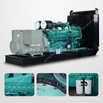 Fournissez le groupe électrogène diesel silencieux de 800kw / 1000kva actionné par le moteur CUMMINS KTA38-G2