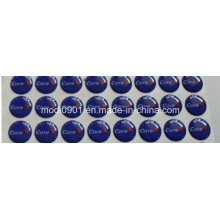 Crystal Dome Logo Epoxy Sticker/Label, Printing Custom Epoxy Sticker, Transparent Custom Epoxy Stickers