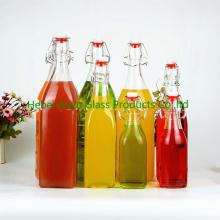 Cocina 250ml / 500ml / 1000ml de salsa de soja / Vinagre Botella de vidrio / Botella de jugo