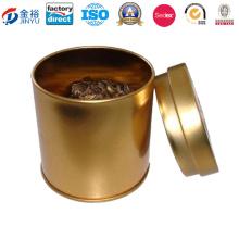 Caja redonda de la lata de la moneda del dinero para el té verde