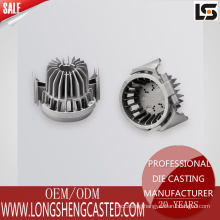 China high quality casting service aluminum alloy die-casting LED light base radiator