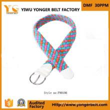2015 Nova Estilo Moda Portable trançado cinto de couro de Yiwu Belt Buckle