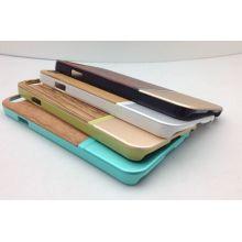 Madera Metal tope móvil cubierta para el iPhone 6