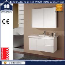 Vanidades blancas vendedoras calientes del cuarto de baño de la laca con el gabinete del espejo