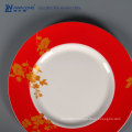Red Painting 10 Inch Ceramic Tableware Plate
