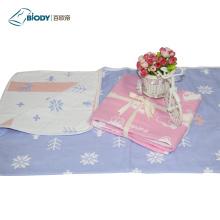 Bebê Musselina Swaddle Multilayer Blanket Gift Set