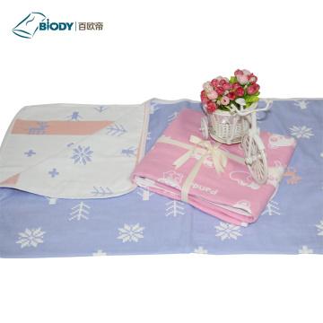 Baby Muslin Swaddle Multilayer Blanket Gift Set