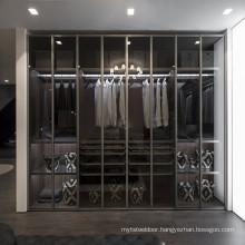 Glass door wardrobe feature