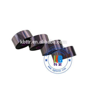Bolsas de alimentos máquina de envasado usar cinta impresora negra cera resina impresora Markem cinta