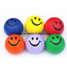 Mini Hot-Sell Colorful Smile Stress Soft Emoção Jumping Ball Toy